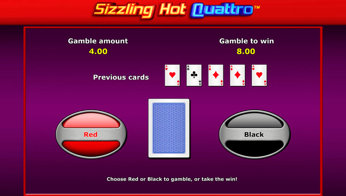 Sizzling Hot Quattro Risk Game